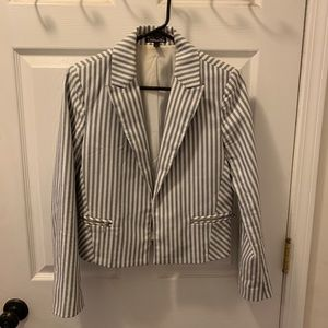 EUC Striped Express Blazer